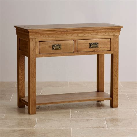 French-Farmhouse-Solid-Oak-Console-Table