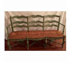 Best French wooden bench