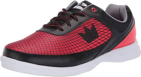 Frenzy Mens Bowling Shoe Black/Red Wide, 13.0