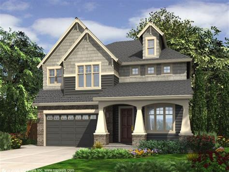 Front Garage Narrow Lot House Plans