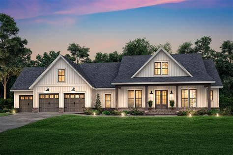 Front Opening Garage Plans With Bonus Room