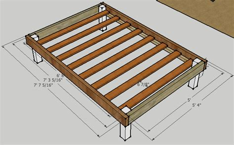 Full Bed Frame Plans
