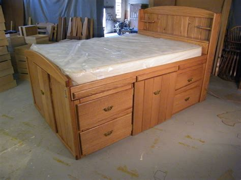 Full Bed With Storage Drawers Plans