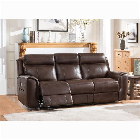 Full Grain Leather Recliner Couch