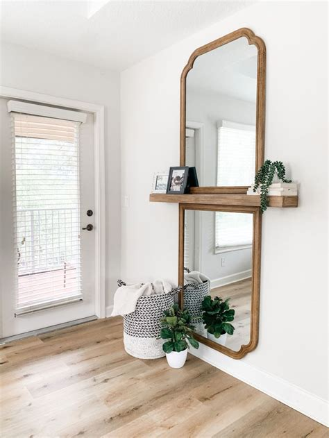 Full Length Mirror With A Shelf