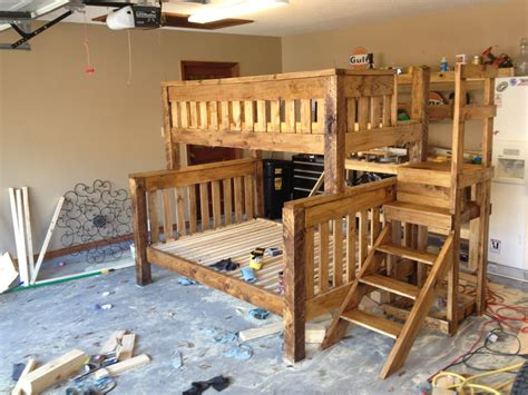 Full Over Queen Bunk Bed DIY