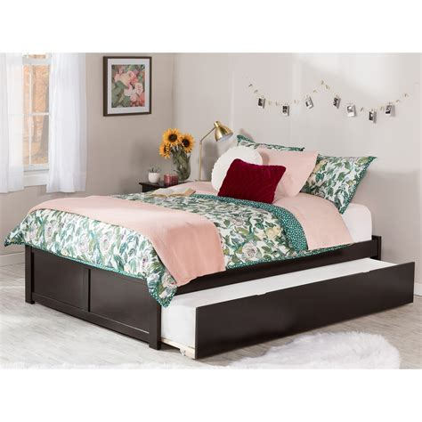 Full Platform Bed With Trundle Option
