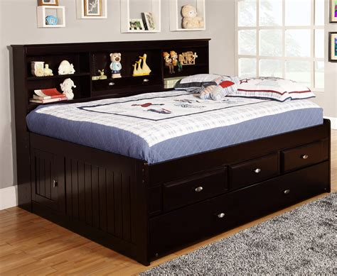 Full Size Captains Bed With Dresser
