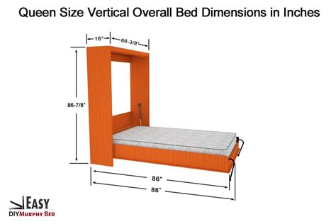 Full Size Murphy Bed Dimensions