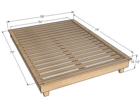 Full Size Platform Bed Plan