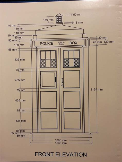 Full Size Tardis Plans Dimensions