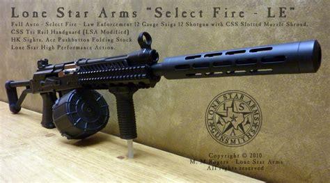 Full Auto 12 Gauge Shotgun And Winchester 1300 12 Gauge Pump Shotgun