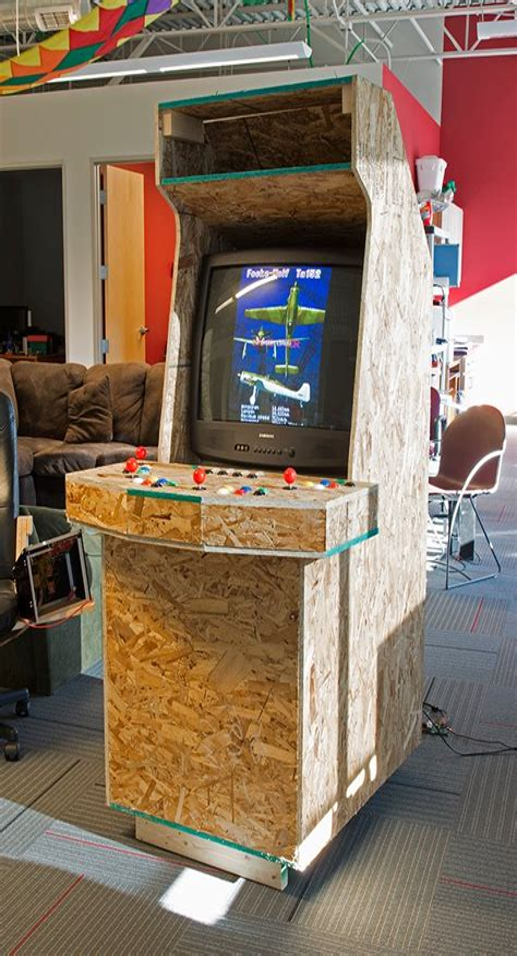 Full-Size-Arcade-Cabinet-Plans-Rhaspberry-Pi