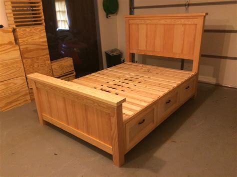 Full-Size-Bed-Frame-With-Drawers-Plans