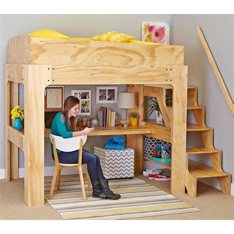 Full-Size-X-Loft-Bed-Without-Desk-Plans