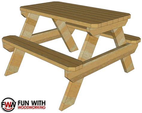 Fun With Woodworking 4 Foot Picnic Table