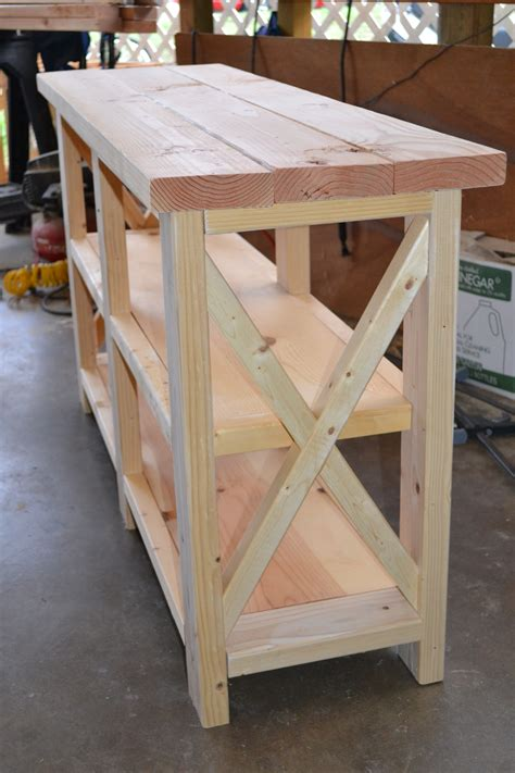 Furniture Building Plans Console Table