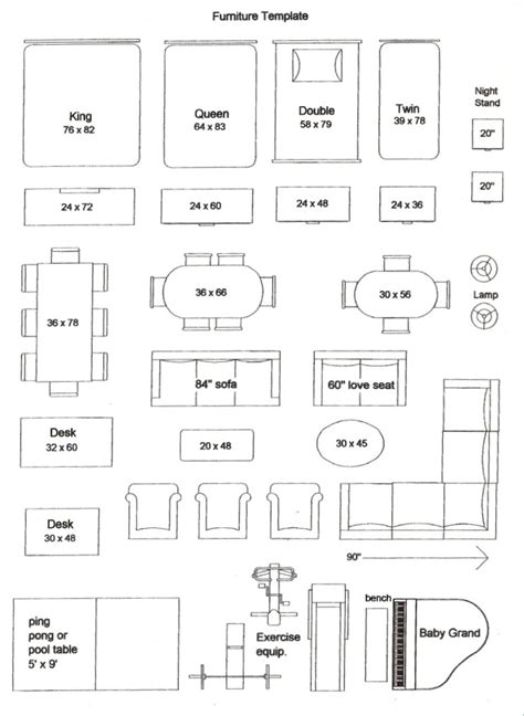 Furniture Cutouts For Floor Plans