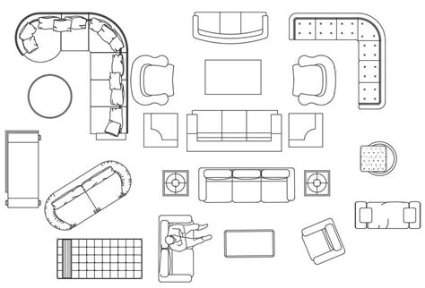 Furniture Download Line Drawings Autocad Plans