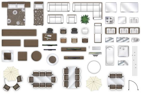 Furniture In Plan View