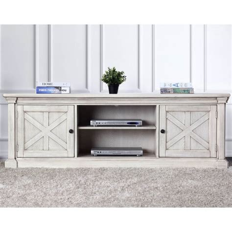 Furniture Of America Lyle Rustic Antique White Tv Stand