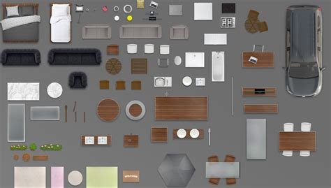 Furniture Plan Top View Psd