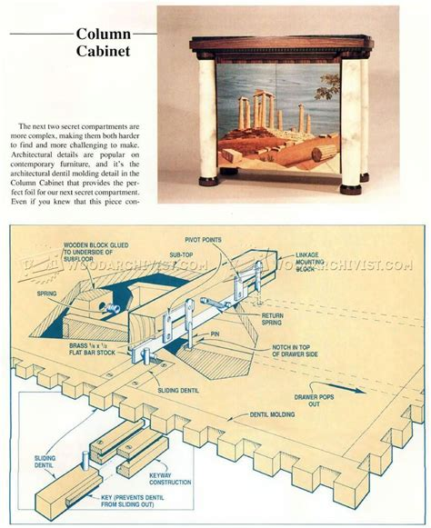 Furniture Secret Compartment Plans