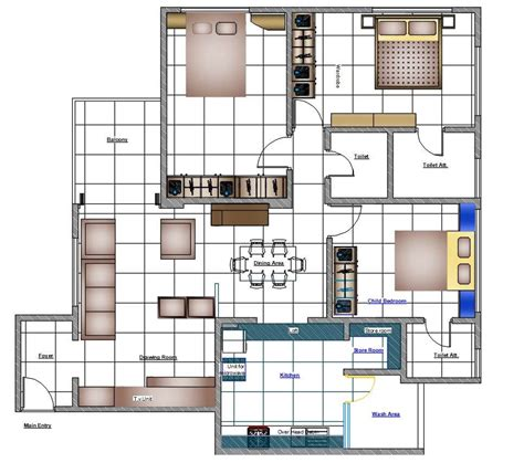 Furniture-Drawings-For-Floor-Plans