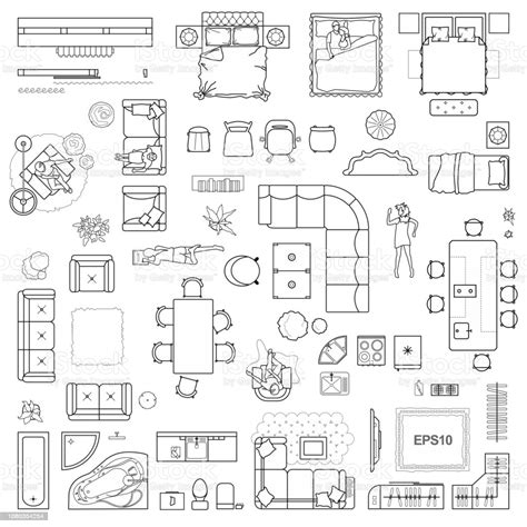 Furniture-Icons-For-Floor-Plans