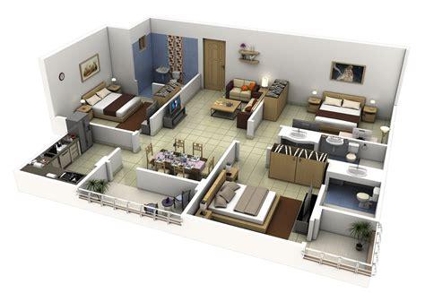Furniture-In-3-Bedroom-House-Plans