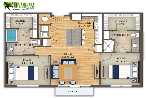Furniture-On-Floor-Plan