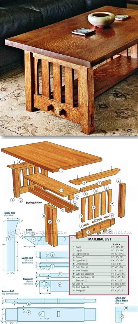 Furniture-Plans-For-Coffee-Table