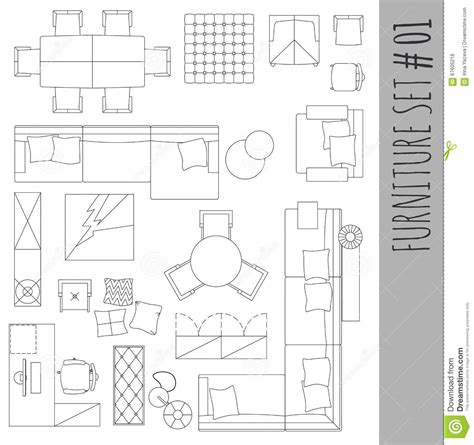 Furniture-Symbols-Used-In-Architecture-Plans
