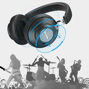 Future (black) headset Bluetooth headset, long standby, Bluetooth headset with microphone, stereo stereo, protein ear pads (black)