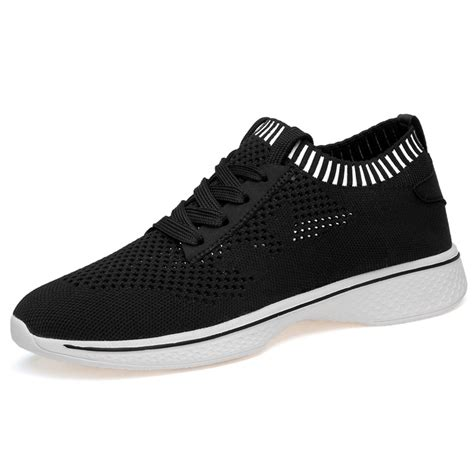 G1825-3 inches Taller - Height Increasing Elevator Shoes - Black Slip-on Lightweight
