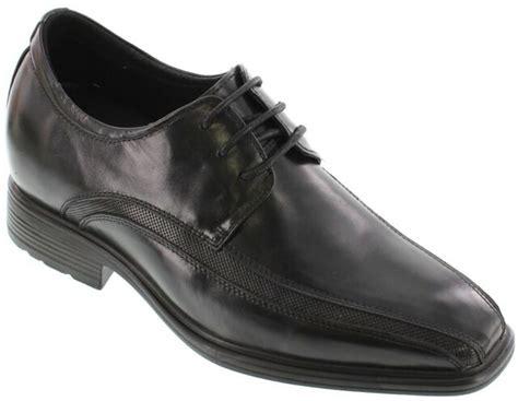 G60126-3 inches Taller - Height Increasing Elevator Shoes - Black Lace-up Oxfords