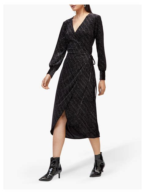 3cbf5b73 buy Now!] Black Sparkle Wrap Dress – Love Cherish ...