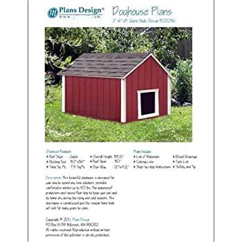 Gabled-Roof-Dog-House-Plans