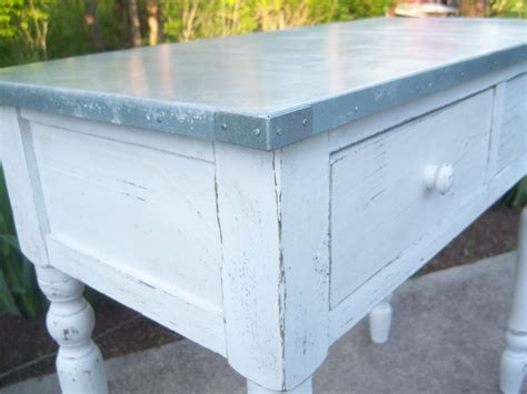 Galvanized Metal Table Top DIY