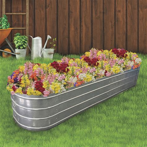 Galvanized Planters Large