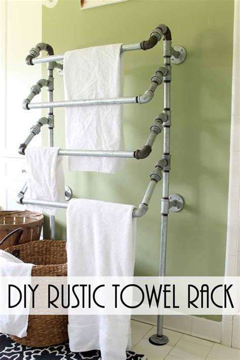 Galvanized-Pipe-Towel-Rack-Diy