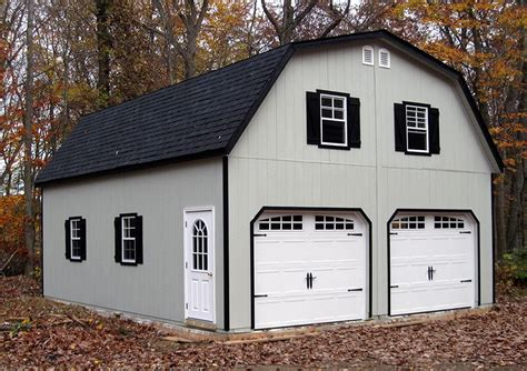 Gambrel Garage Plans With Loft And Bathroom