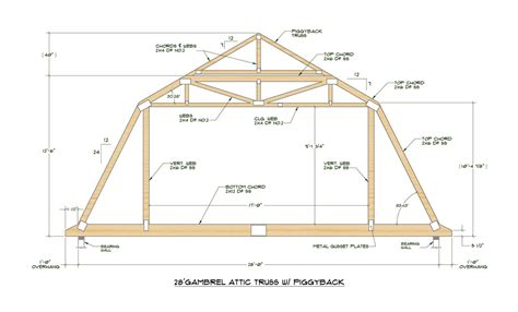 Gambrel Roof Plans For 12 Roof