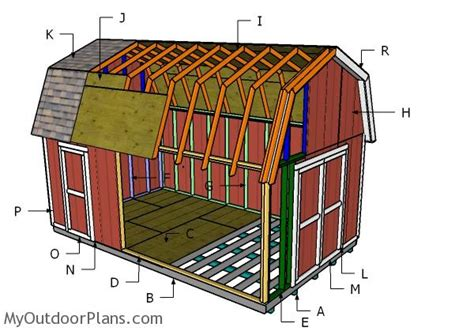 Gambrel Roof Plans For 16 X 20 Foot Building