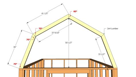 Gambrel Style Storage Shed Plans