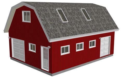 Gambrel-Barn-Plans-With-Loft