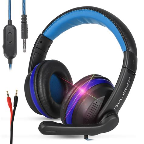 Gaming Headset Mic, Pc Laptop Home Wired Gaming Headset, Blue