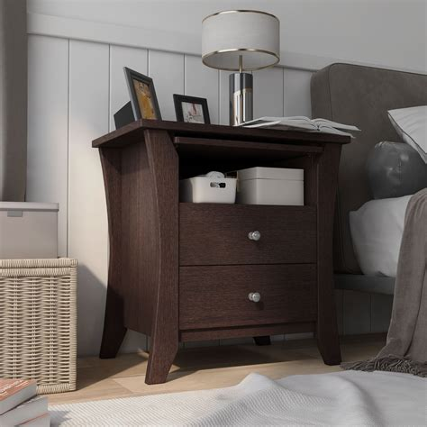 Gann 2 Drawer Nightstand