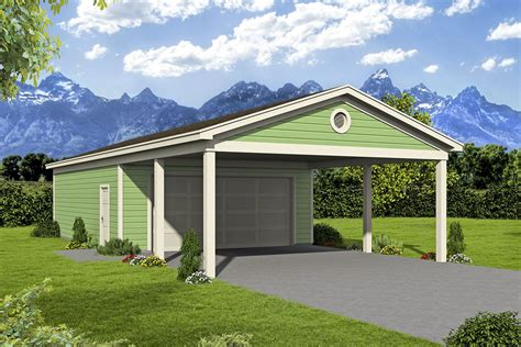 Garage And Shop Plans With Carport