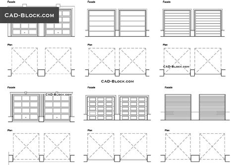 Garage Door Cad Block Plan